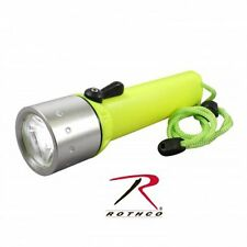 Diving Flashlight YELLOW (4 AA Batteries-included) Bright LED 875 Rothco