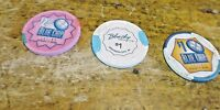 Blue Chip Casino Chips Michigan City Indiana $2.50 and $1.00 Chips Lot of 3