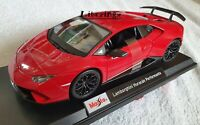 MAISTO 1:18 Diecast Model Car Special Lamborghini Huracan Performante in Red