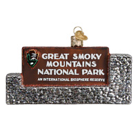 """Great Smoky Mountains National Park"" (36189)X Old World Christmas Ornament w/Bx"
