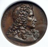 1823 FRANCE Nicolas Catinat Domard ANTIQUE FRENCH Vintage Jeton Medal NGC i88553