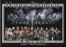 game of thrones personalised A5 birthday card son daughter brother sister name