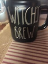 Rae Dunn Black Witch's Brew Halloween Mug