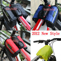 2012 New Style Cycling Bike Sports Bicycle Frame Front Tube Bag 3 color Select