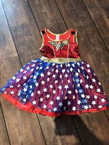 Girls Wonder Woman Costume, Tu, Age 5-6 Years