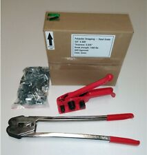 """5/8"""" Polyester (PET) Strapping Kit Complete with Manual Poly Strapping Tools"""
