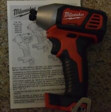 "New Milwaukee 2656-20 M18 1/4"" Cordless Hex Impact Bare tool 18V"
