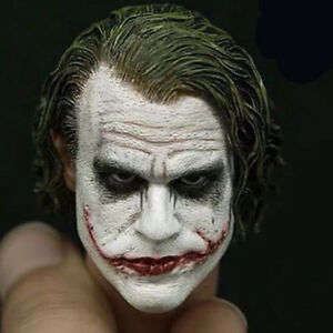 Joker Heath Ledger 1/6 Scale Head Sculpt For Hot Toys Figure Body Dark Knight