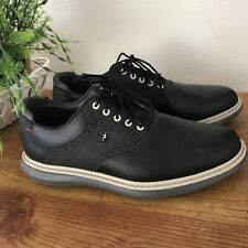 FootJoy 2021 Traditions Golf Shoes 57904 Black 11 Medium (D) New Without Box