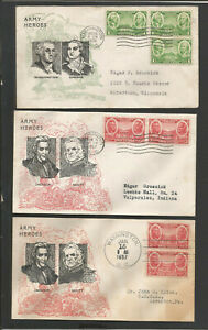 US  Army #785-87 FDCs Misc.Lot-5 Diff.Bronesky Cachet A/D>Diff.Colors/Designs