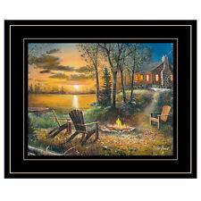 Trendydecor4u Fireside by Jim Hansel Ready to Hang Framed Print Jh132a-704g