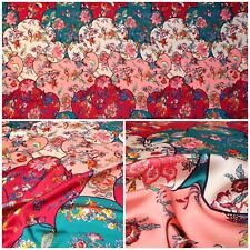 Dress Fabric Silk Handle Digital Print Design Fabric High Quality Cloth Beach
