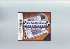 Il New York Times CRUCIVERBA-Nintendo DS GAME/LITE DSi 3 DS compatibile-in buonissima condizione