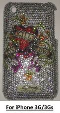 "Ed Hardy ""Love Kills Slowly"" crystal phone Case+Protector for iPhone 3G/3GS"