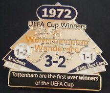 TOTTENHAM HOTSPUR v WOLVERHAMPTON VICTORY PINS 1972 UEFA CUP Badge Danbury Mint