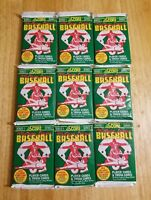 ( 9 ) Unopened Pack of 1991 Score Major League Baseball Cards series 1.   NEW
