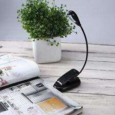 UK USB LED Flexible Neck Light Clip on  Desk Book Lamp Reading Rechargeable Lamp