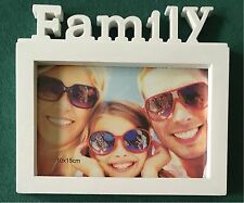 Bilderrahmen Friends oder Family - weiss - Fotorahmen 10 x 15 cm