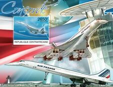 Air France CONCORDE Aircraft Stamp Sheet (2012 Central African Republic)