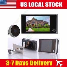 "3.5""Digital Door Ring Doorbell Peephole Viewer Peep Hole Cam Mini outdoor camera"