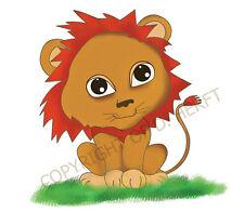 Lion Art Print Kids Room Decor