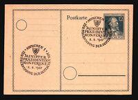 Germany 1947 Stephan Postal Card / Munich Event CDS (1) - Z16746