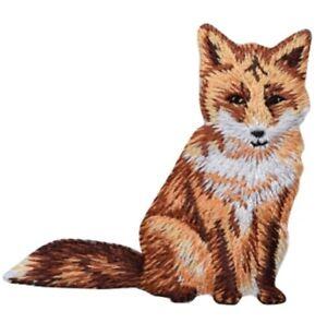 "Fox Applique Patch - Dog, Animal Badge 2-1/8"" (Iron on)"