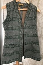 Vintage Long Waistcoat. Size 8. Tweed. 60s.