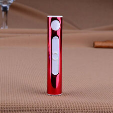 Cigarette Lighter USB Electronic Rechargeable Windproof Arc Mini Portable Red