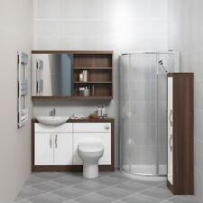 CG bagno vanità specchio unità con rubinetto Bacino Bagno Gabinetto Suite Marrone Bianco