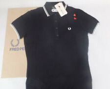 FRED PERRY Amy Winehouse Ladies Tipped knitted Shirt Uk 10 BNWT Black