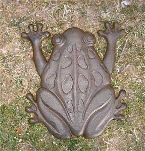 Frog Stepping Stones Set of 6 Cast Iron Rust Finish