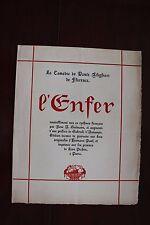 ✒ PROSPECTUS Souscription DANTE Alighieri L'Enfer 1924 Hermann Paul d'Annunzio