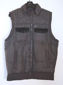 NWT $145 Saks Fifth Avenue Men's Polyester Spinni Vest, Charcoal Gray, XL