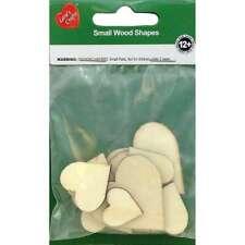 Assorted Wood Shapes Hearts 12/Pkg 754246226747