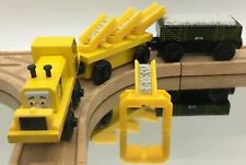 Thomas Wooden Railway Repair Cars Grader Chute ADULT OWNED Vintage Train Set Lot