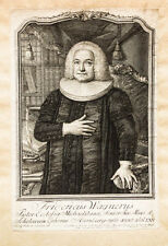 1757 Wagner Friedrich teologo Amburgo RAME chiave-ritratto Fritzsch