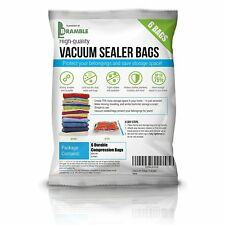 6 Pack Vacuum Bag Compressed Storage Bags Space Saving Clothes Bedding 80x100cm