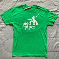 HBO SILICON VALLEY TV SHOW PIED PIPER PROMO SHIRT GREEN SZ S D16