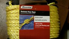100ft twisted poly rope 1/4 inch