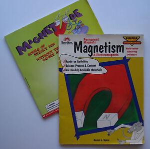 Magnets workbooks activity books Magnetism, Magnetude for Grades 3 - 6