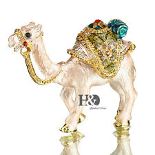 Handmade Crystal Metal Camel Trinket Boxes Figurines Jewelry Collectibles Gifts