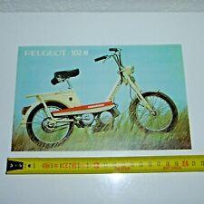 catalogue vélomoteur PEUGEOT  102 N  moto mobylette vélo