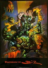 Rare Deathblow By Simon Bisley Chromium Poster The Biz 90's