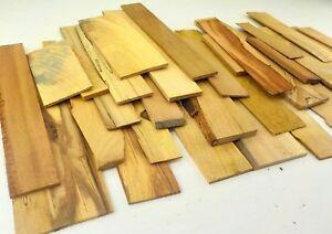 Thin hardwood board offcuts. 1-6mm Veneer Marquetry Craft Model making 1KgTOC