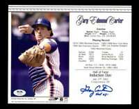 Gary Carter PSA DNA Coa Hand Signed 8x10 HOF 03 Induction Photo Autograph