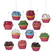 Set/2 Kurt S Adler Rainbow Cupcake Ornaments Candy Treats Christmas Tree Decor