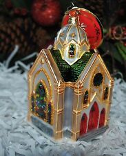 NEW RADKO HEAVENLY REFLECTIONS Christmas Glass Ornament Church