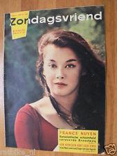 1959 ZONDAGSVRIEND 9 FRANCE NUYEN,ESKIMO,DEGRELLE,CYPRUS,CHINA,STANDARD LUIK,