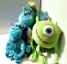 Monsters Inc 3 X Sully Plush/soft Toys 1 X Mike Wazowski Disney Store Large